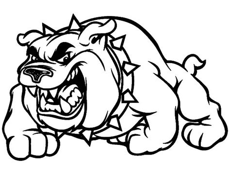 scary bulldog coloring pages scary bulldog coloring pages