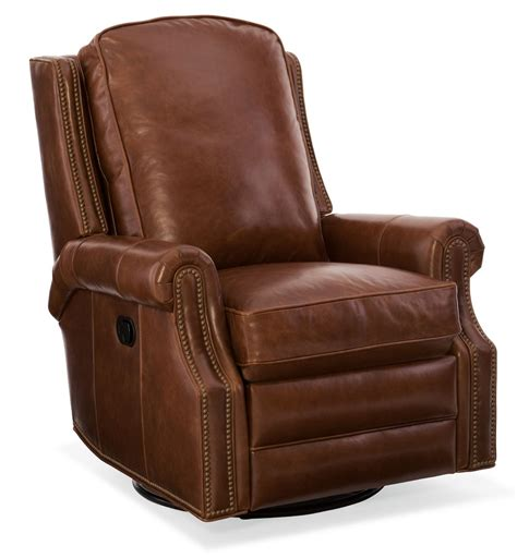 leather swivel recliner aaron leather swivel glider on