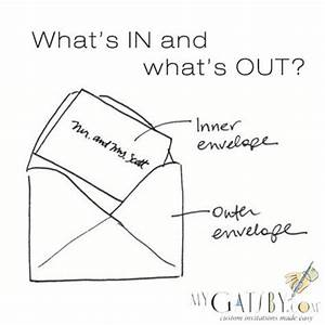 how to address inner outer envelopes wedding my gatsby With how to address wedding invitations inner and outer envelopes