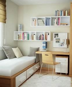 1001 solutions pour l39equipement de vos petits espaces With bureau pour petite chambre