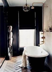 stunning salle de bain retro noir et blanc ideas With salle de bain design avec lampe de décoration