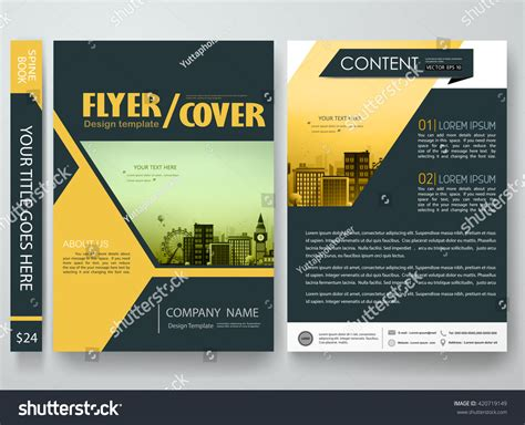 poster design template flyers design template vector brochure report stock vector 420719149