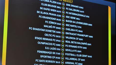 uefa europa league    draw uefa europa league