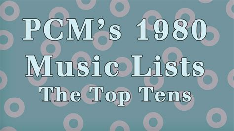 1980 Top Ten Music Charts