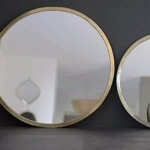 Miroir Rond Laiton : grands miroirs avec cadre en laiton couleur or ~ Teatrodelosmanantiales.com Idées de Décoration