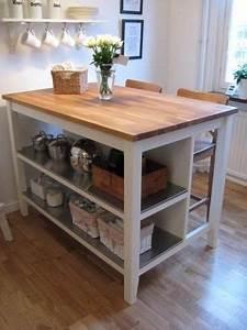 STENSTORP Ikea Kitchen Island White Oak With 2 Ingolf