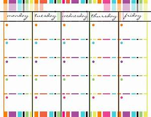 7 best images of monday through friday calendar printable With saturday to friday calendar template