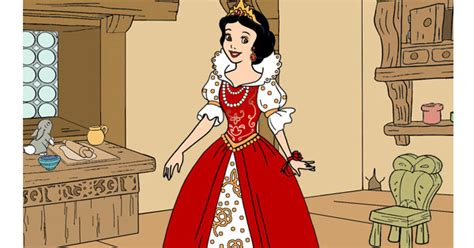 snow white   cottage dress  game disney princess