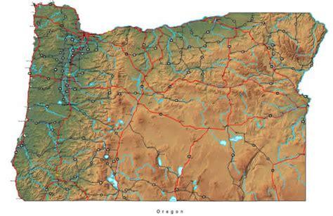 oregon map  maps  oregon state