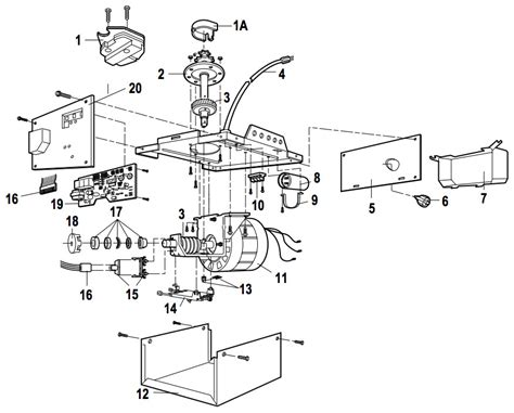 Schematic Diagram For My Garage Door Opener by Liftmaster 1246r 1256r Garage Door Opener Parts