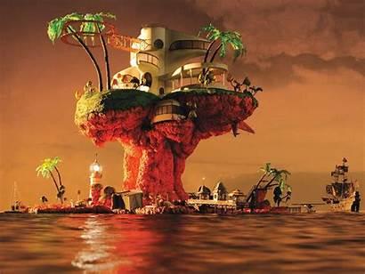 Gorillaz Plastic Album Beach Covers Hewlett Jamie