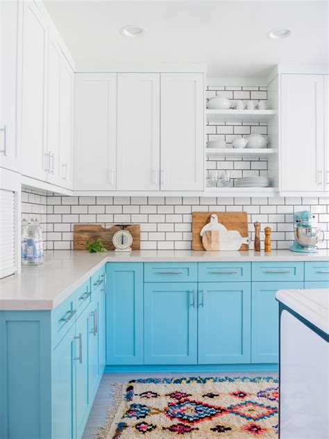 light blue painted kitchen cabinets 20 gorgeous kitchen cabinet color ideas for every type of