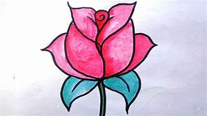 How to Draw a Rose for Kids | Draw Rose | How to Draw Rose ...