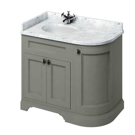Bathroom Vanity Units Plumbworld Burlington 100 Curved Vanity Unit Uk Bathrooms