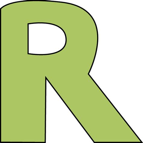 Green Letter R Clip Art  Green Letter R Image