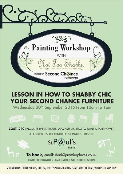 not shabby worcester second chance furnishing painting workshop with not too shabby 30 september 2015
