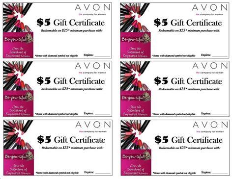 Avon Gift Certificates Templates Free Costumepartyrun