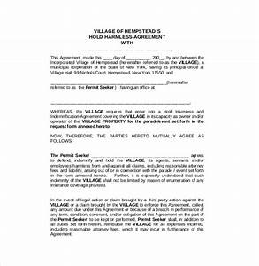 hold harmless agreement template 13 free word pdf With hold harmless waiver template