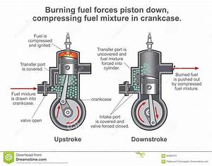 Internal Combustion Engine Process  Illustration Vector