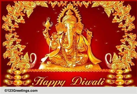 lord ganesha diwali blessings  business  ecards