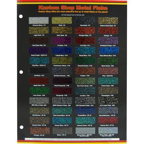 custom shop 48 color chart flake chart