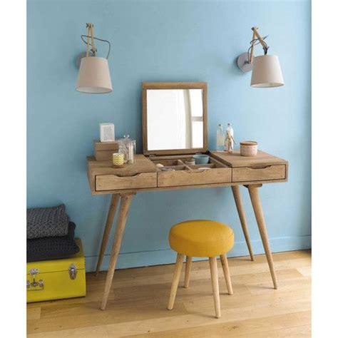 tabouret pour coiffeuse chambre tabouret en tissu et bois jaune bois pin 39 up chambre
