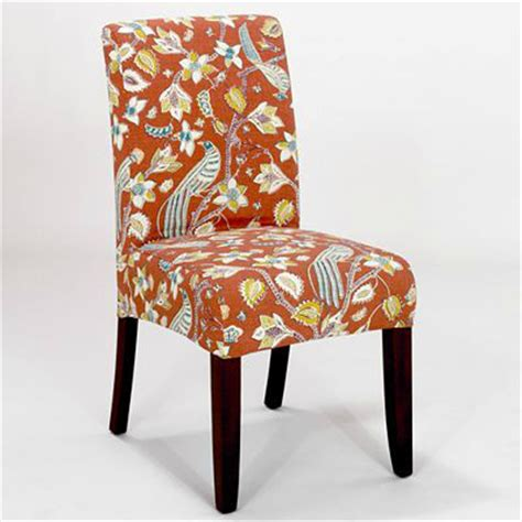 paprika birds slipcover chair collection