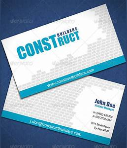 7 construction business cards printable psd eps for Sample business cards for builders