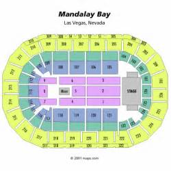 mandalay bay events center seating chart mandalay bay
