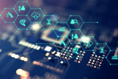 Fintech Financial Technology Icons Circuit Evolved Solutions