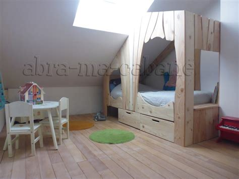 chambre cabane lit cabane bois massif enfant sequoia abra ma cabane