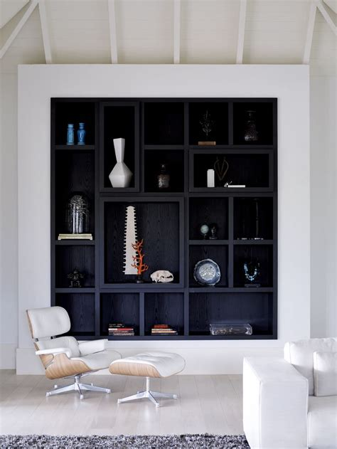 White And Black Bookcase by Best 25 Black Shelves Ideas On Black And
