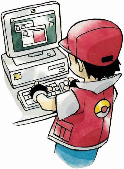Pc Yellow Using Boy Pokemon Trainer Computer