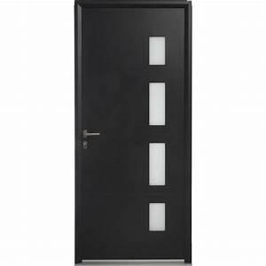 porte d39entree aluminium austin artens poussant gauche h With porte d entrée alu avec salle de bain éclairage