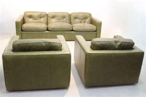 Poltrona Frau Vintage : Vintage Seating Group By Poltrona Frau In Olive Green