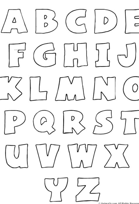 plantilla para imprimir el abecedario letter templates plantillas de letras grandes