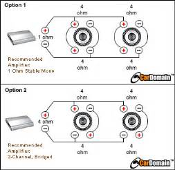subwoofer bridging diagram subwoofer image wiring similiar dual 4 ohm sub wiring to 2 ohm keywords on subwoofer bridging diagram