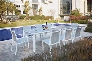 Salon De Jardin 12 Personnes : ensemble table de jardin extensible en aluminium 8 ~ Dailycaller-alerts.com Idées de Décoration