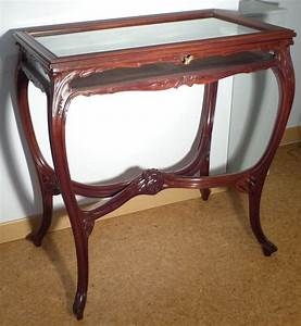 Art Nouveau Mobilier : vitrine de collectionneur art nouveau en acajou ecole de ~ Melissatoandfro.com Idées de Décoration