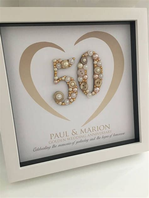 golden wedding anniversary gift  anniversary gift