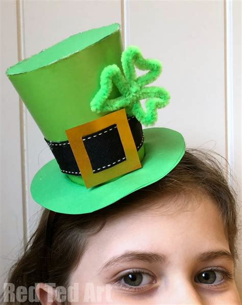 st patricks day hat diy red ted art