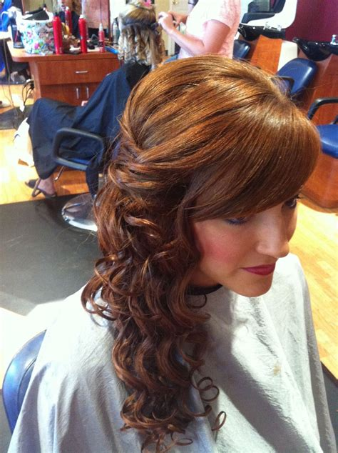homecoming hair side updo beauty hair styles curly