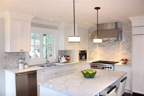 kitchen island pendant light fixtures 25 breathtaking carrara marble kitchens for your inspiration