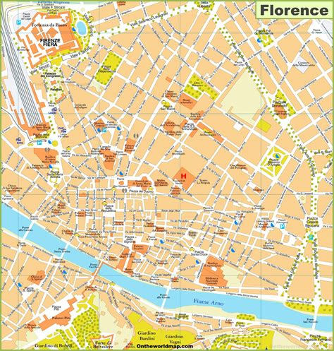 walking map  florence