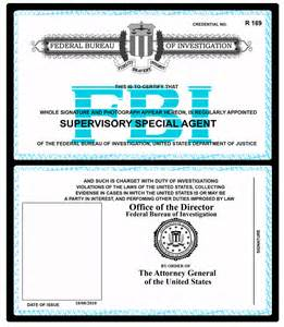 FBI ID Badge Wallet