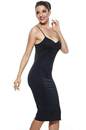 Khaya Womens Seamless Long Slip Dress Spaghetti Strap