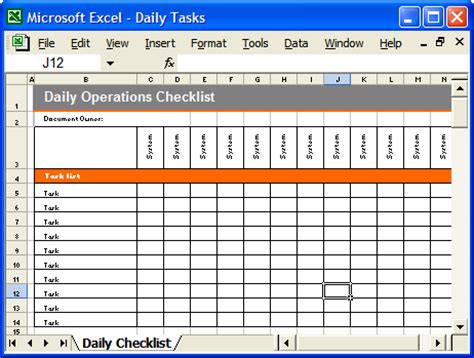 operations guide ms word template