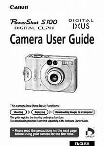 Canon Powershot S100 Digital Elph Manual  Owner User Guide Pdf