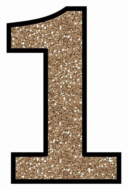 Number Glitter Clipart Printable Clip Alphabet Without