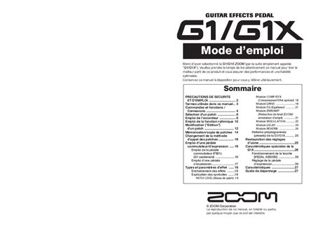 mode d emploi zoom g1x trouver une solution 224 un